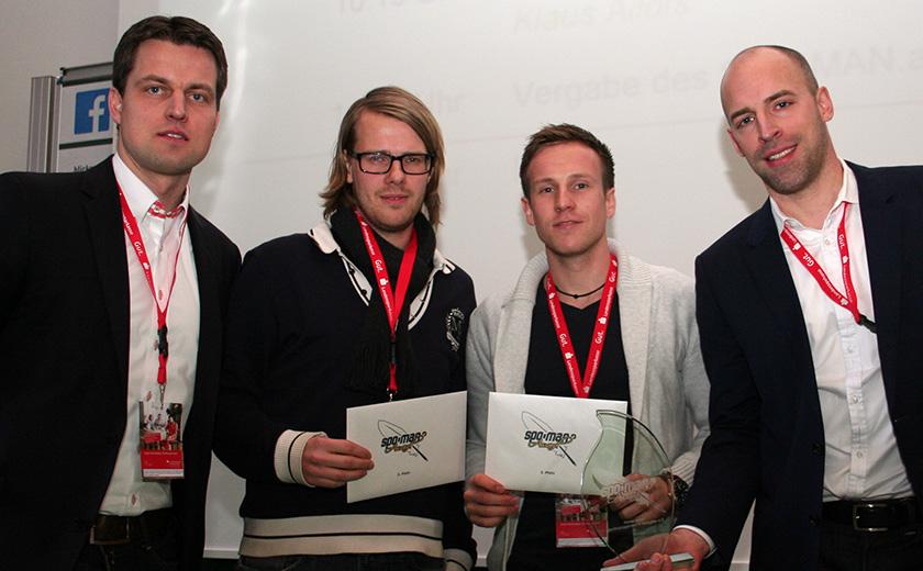Mark Schober, Markus Müller, Thorsten Herda und Nicolas Grundmann (v.l.n.r.).