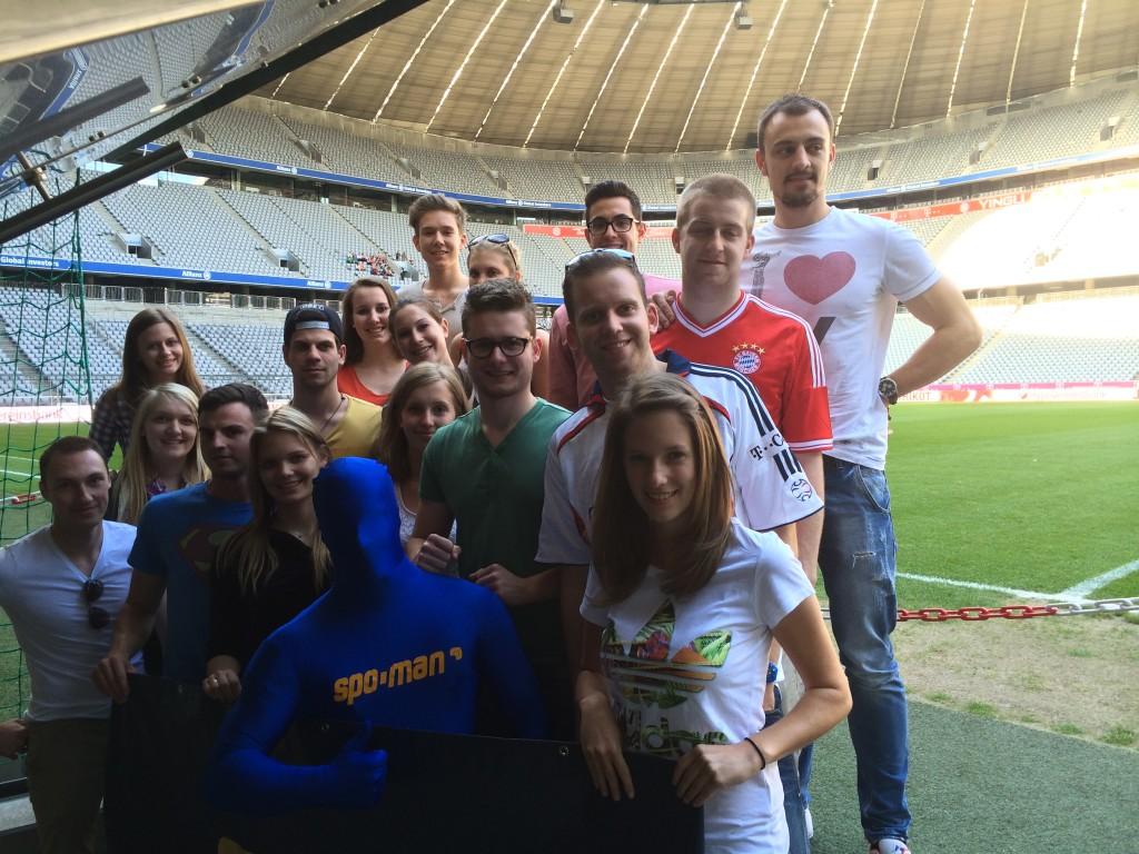 Gruppenfoto Allianz Arena